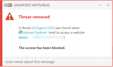 EIS Threat removed